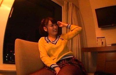 Mao Hamasaki Asian gets vibrator on big boobs under sweater