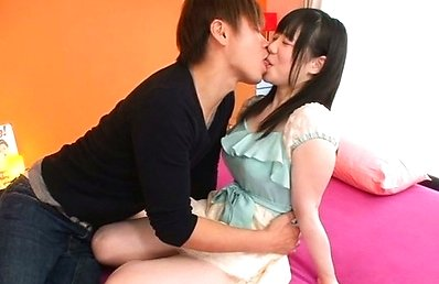 Nene Wakaba Asian has nipples of big boobs rubbed and is kissed