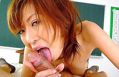Pervy Asian schoolboy blown by his teacher