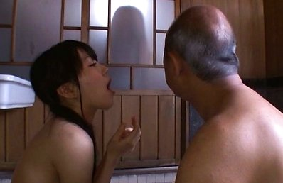 Marin Aono Asian shows cum she gets in mouth after sucking boner