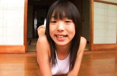 Nanako Niimi Asian in bath suit rests and goes for outdoor walk