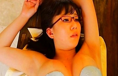 Hino Mai Asian with specs has big round cans getting out of bra