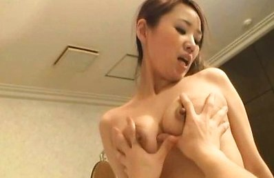 Japanese AV Model takes blouse off and has hot boobs fondled