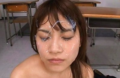 Ai Nikaidou Asian with juicy boobies gets cum on face at school