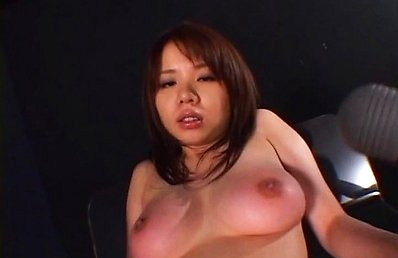 Japanese AV Model has big naughty assets aroused with vibrators