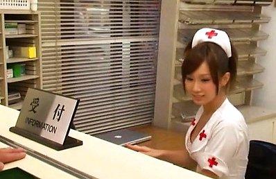 Minami Kojima Asian nurse licks and sucks dick so erotically